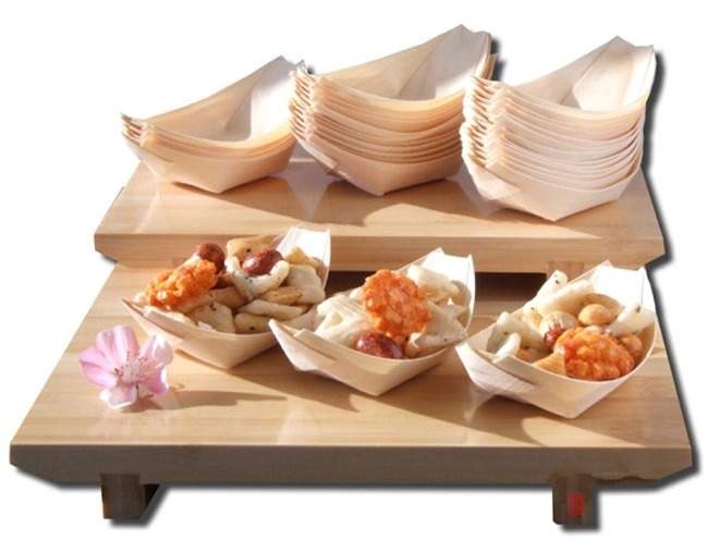 Gifts Of The Orient Bamboo Table Ware Boats