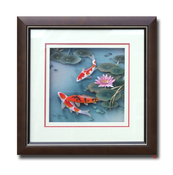 8000 - 20100702 three koi decoupage SYT-D12 11cf