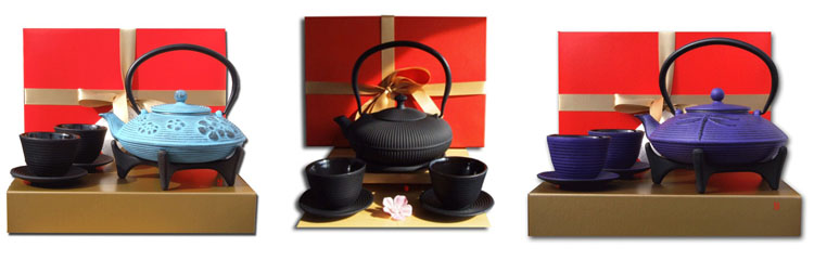 Gift Sets - cast iron teapots by Gifts Of The Orient