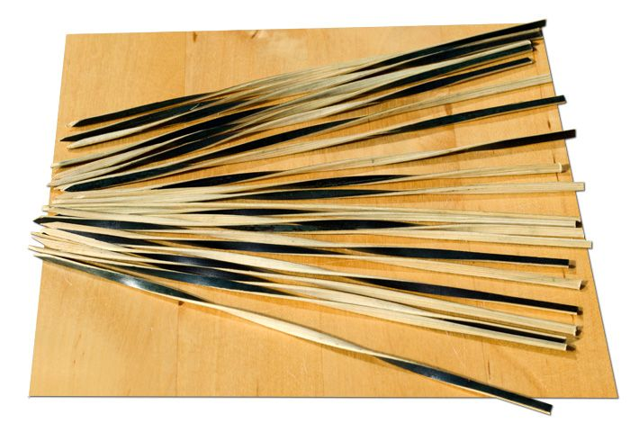 Black & Tan Spiral bamboo skewer – 15cm x500 - GOTO
