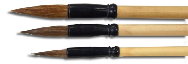 Chinese Calligraphy - Round brushes with pony hair X3 HB251,3,5