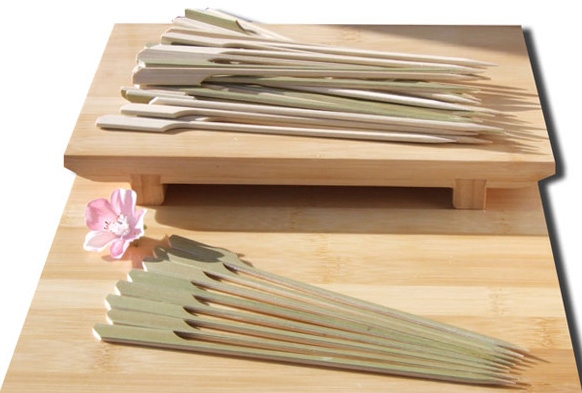 Cocktail & cooking Paddle skewer bamboo 18cm x 1000 Japanese style - GOTO