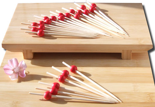 Cocktail stick skewer with red bead 12cm x 1000 Japanese style - GOTO