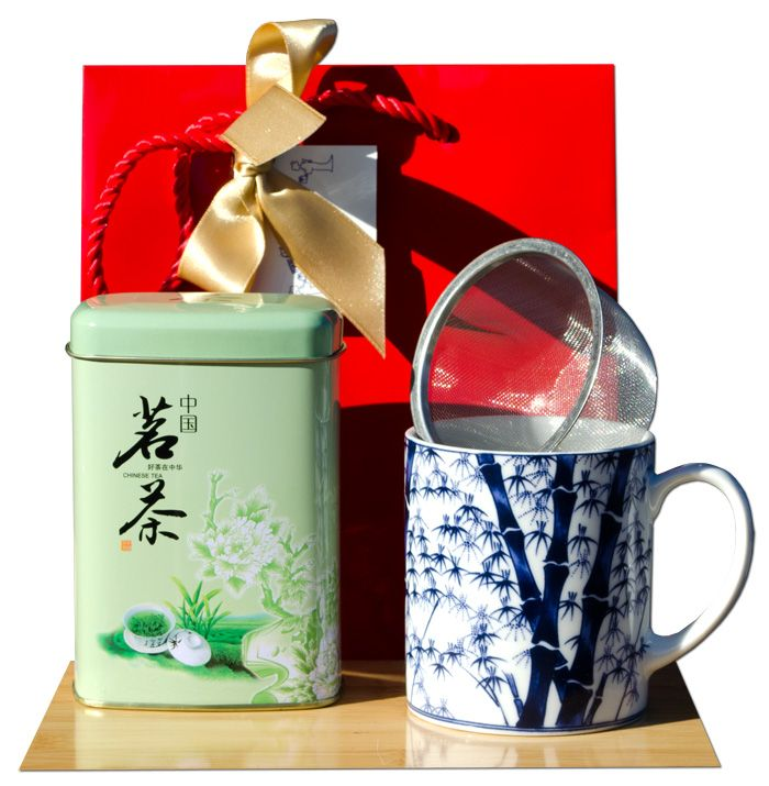 Gift Bag – Green tea & Tea mug Japanese Bamboo