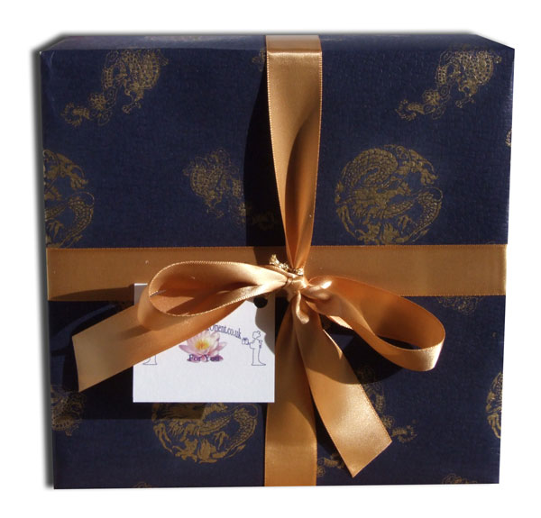 Gift wrapping service Chinese high quality blue paper