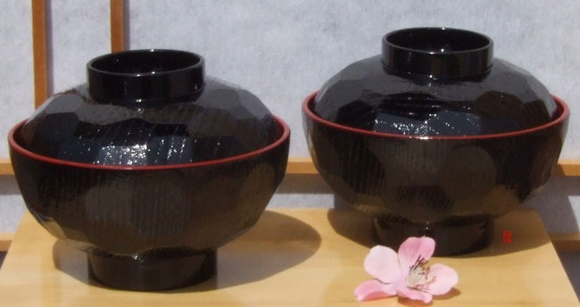 Miso Bowl set with lid for two 12cm