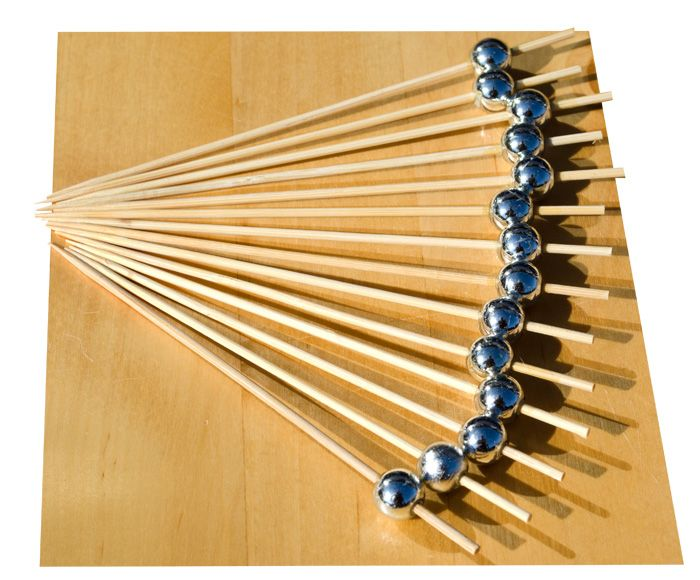 Silver Pearl wood skewer 12cm x100 – GOTO