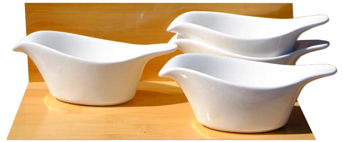 White Arctic Bird dishes 13.5cm X4 - GOTO