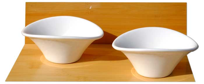 White Spirit Dishes X 2 white - GOTO